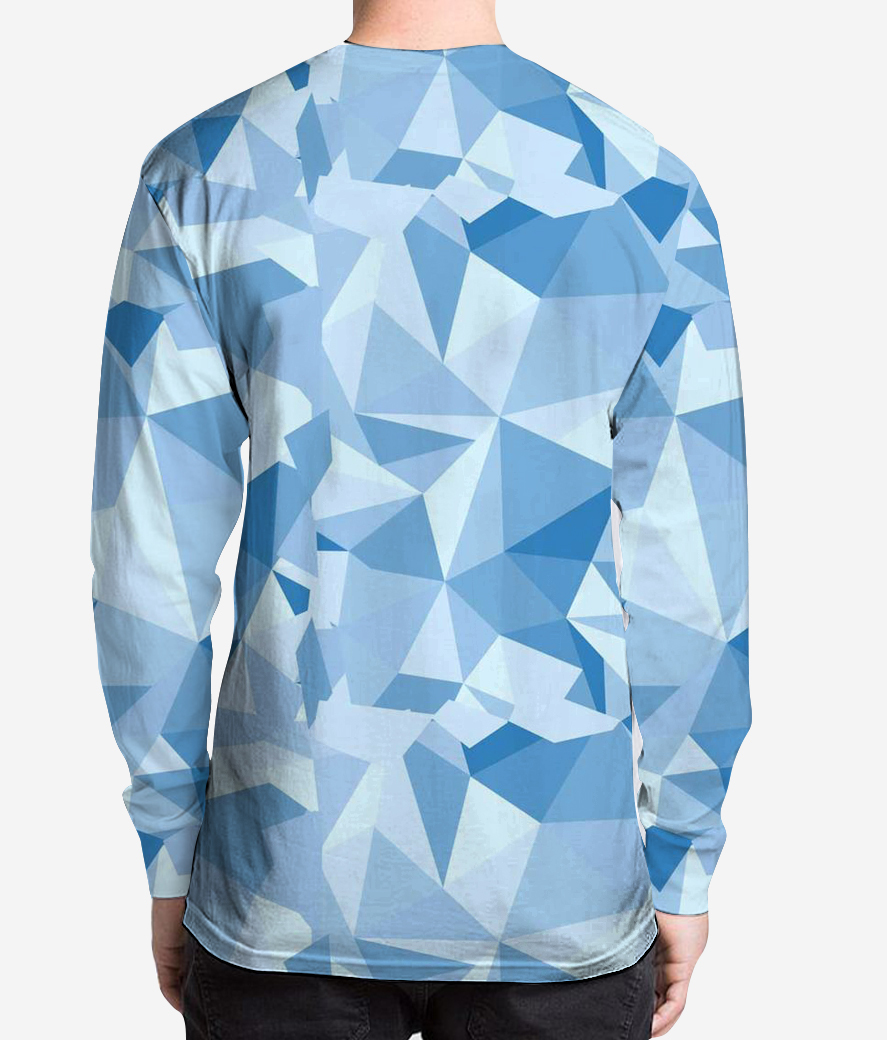 The introvert men's printed full sleeves henley back