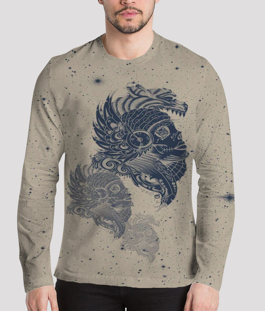Shining armour men's printed henley