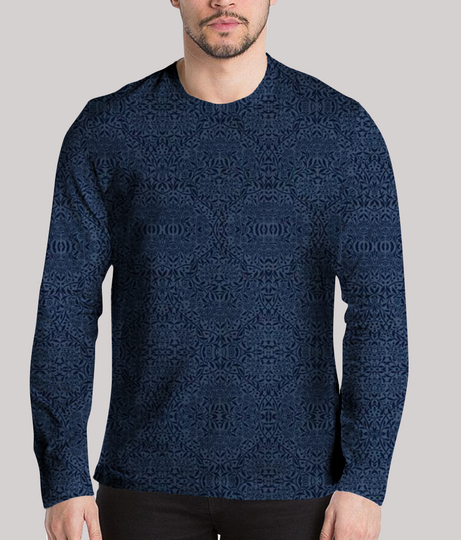 Simple life men's printed full sleeves henley