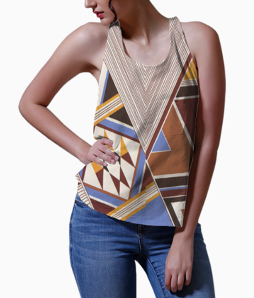 Aztec love women's printed tank