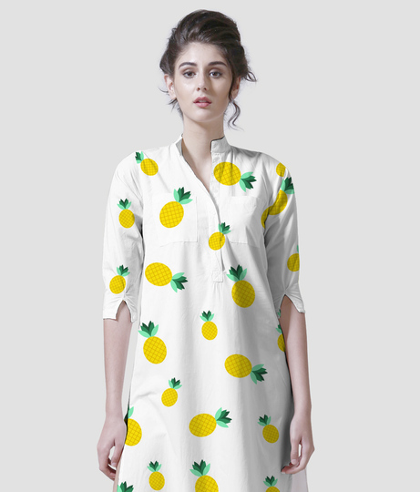 Summer fun women's printed kurta