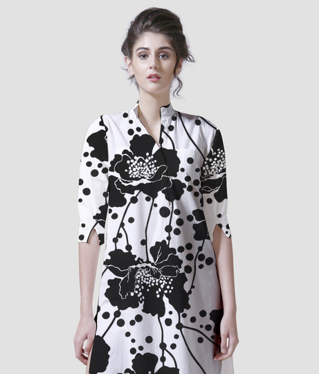 Black beauty women's printed kurta