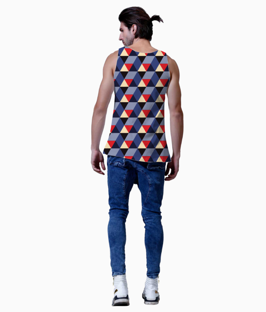 Abstract 3d geometric pattern vest back