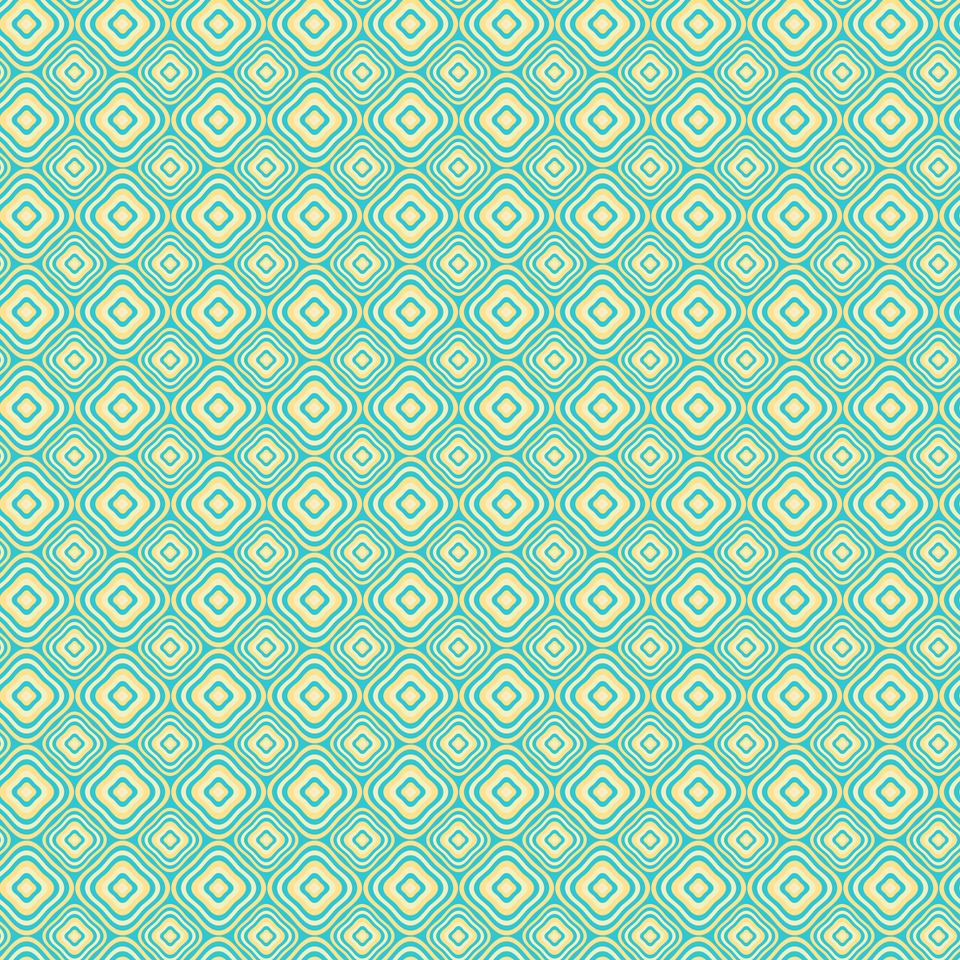 Retro rounded rectangle pattern