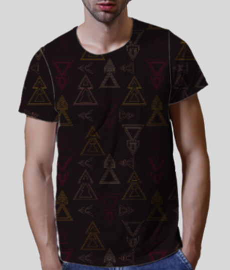 Seamless geometric triangle arrows front
