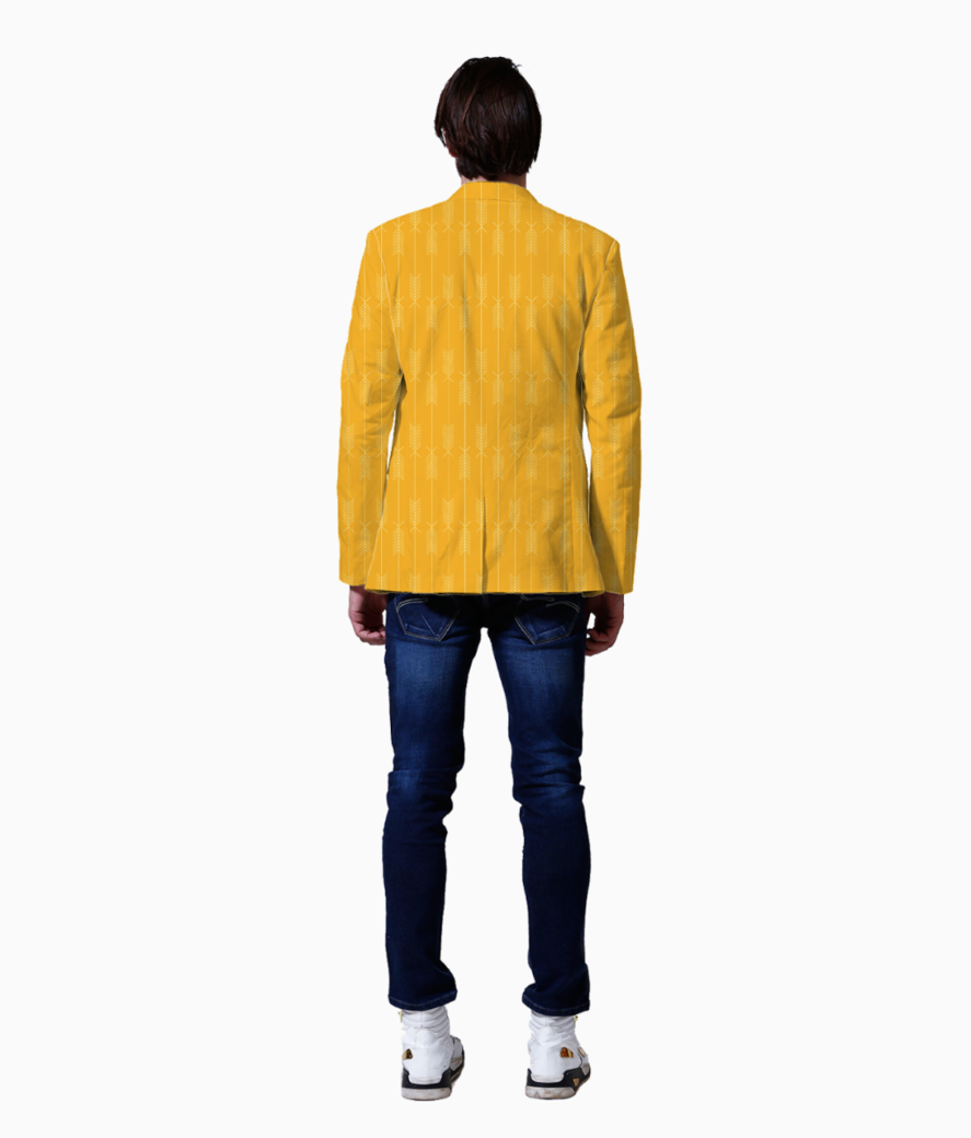 Yellow arrows fabric blazer back