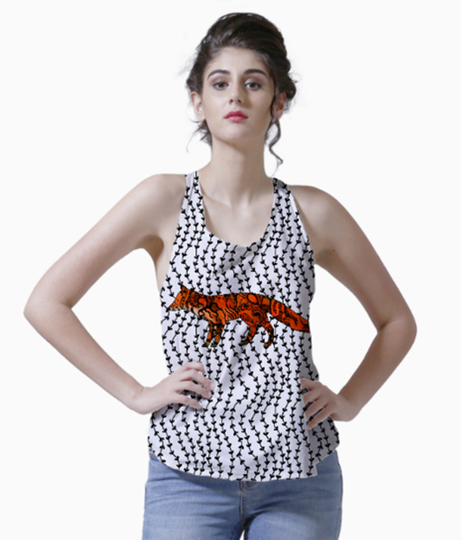 Funky foxy small tank front