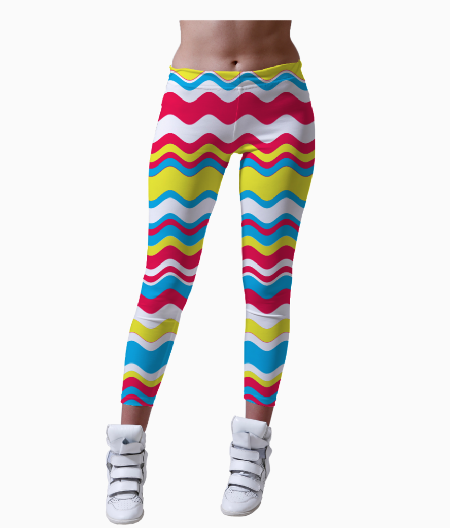 Wave leggings front