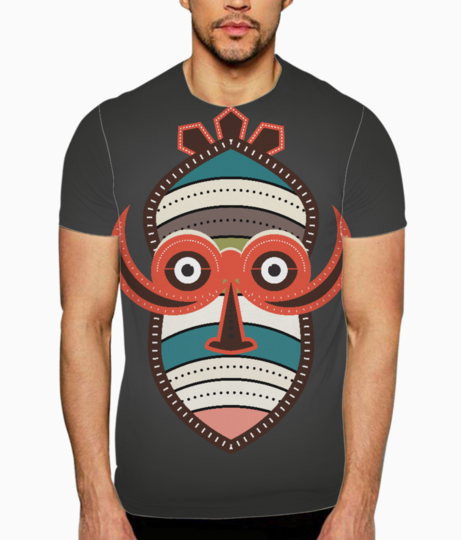 African authentic tribal mask 1 t shirt front