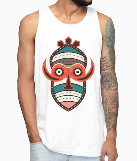 African authentic tribal art vest front