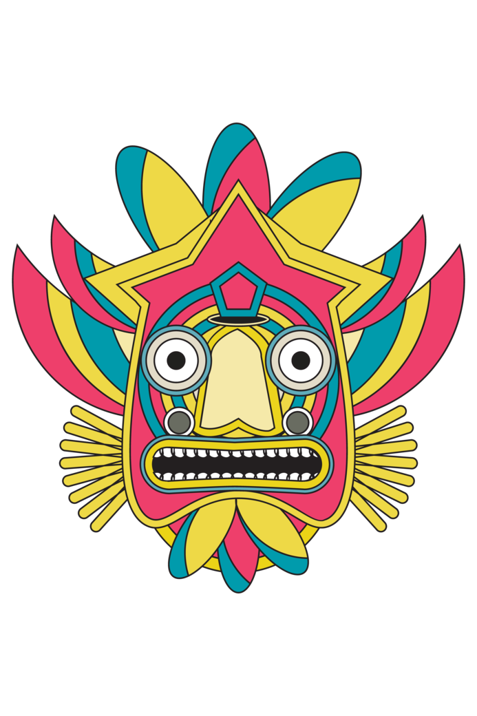 Indian tribal mask