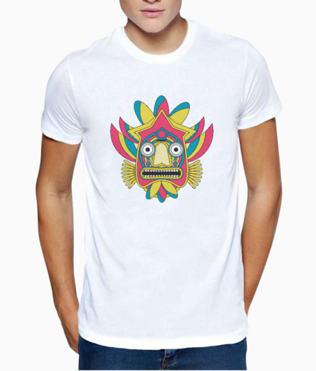 Indian tribal mask t shirt front