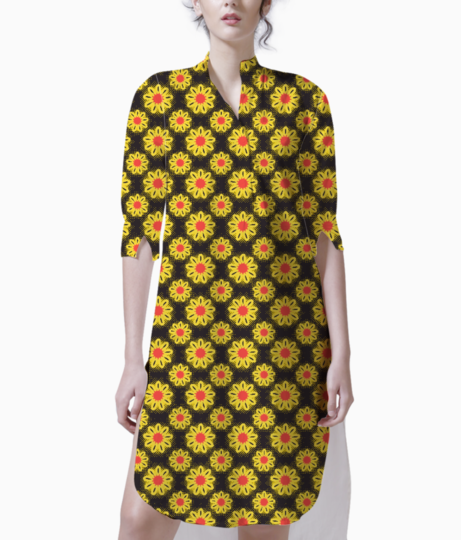 Summer flowers kurta front