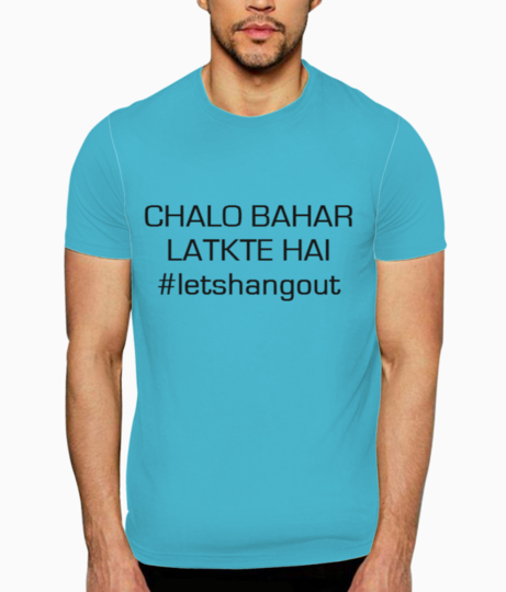 Lets hang out t shirt front