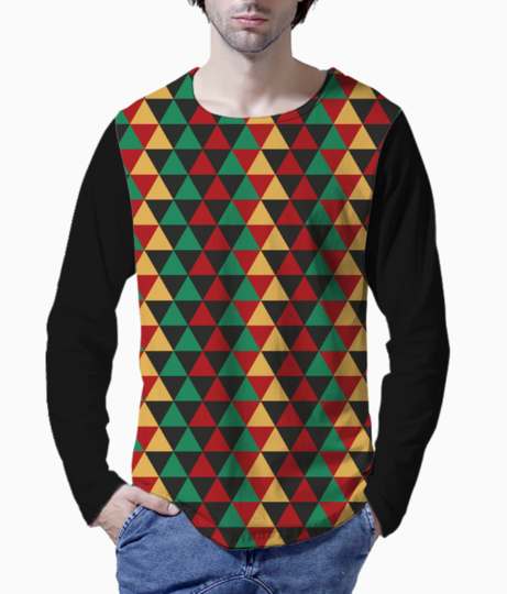 Abstract triangle art henley front