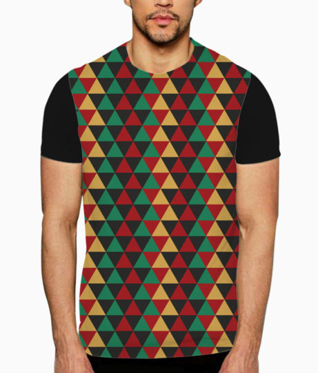 Abstract triangle art t shirt front