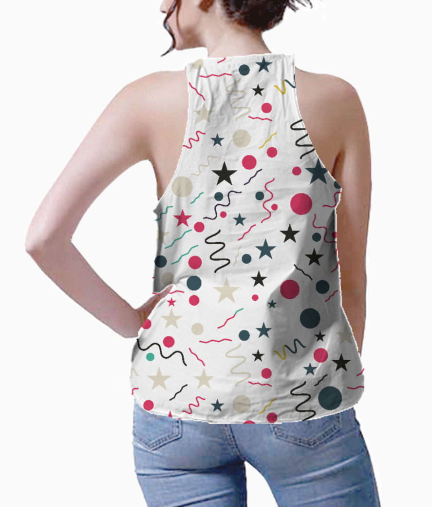 Splash little shapes tank back