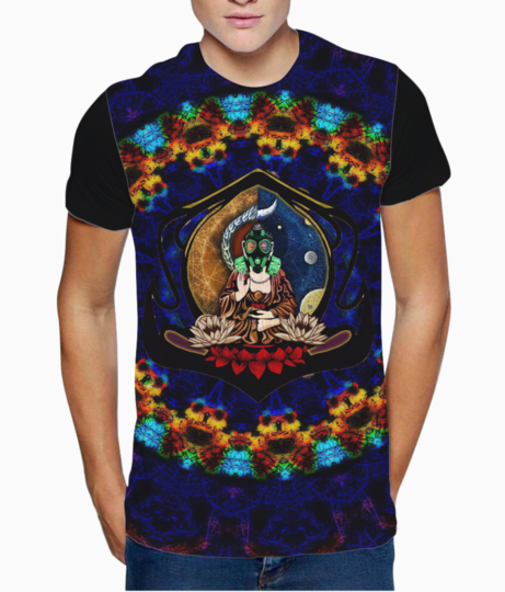 Buddha 5 recovered t shirt front