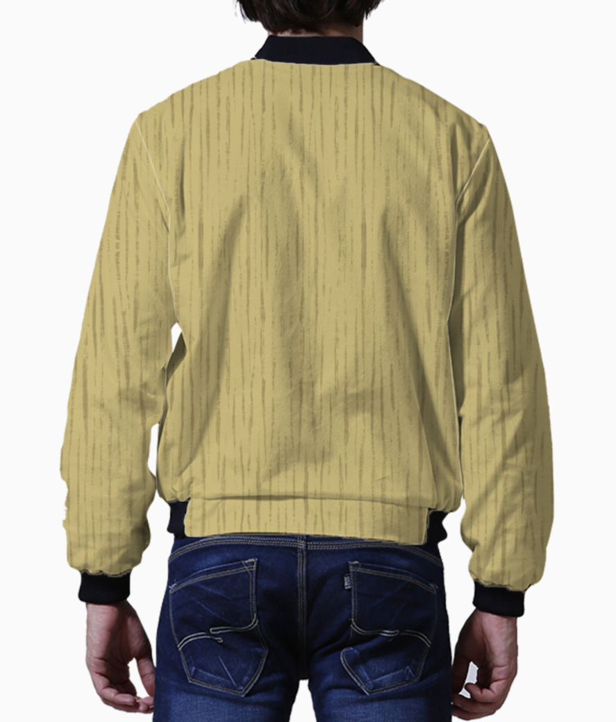Dark golden wall men's bomber back