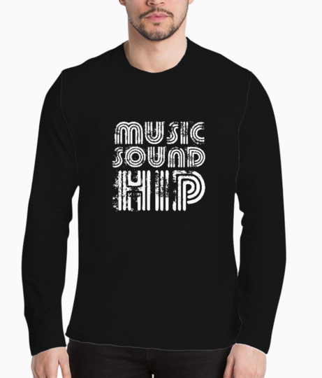 Music sound hip typography henley front