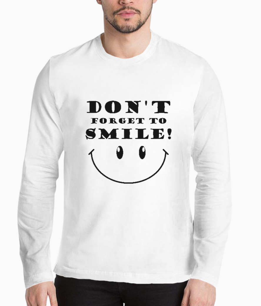 Dont forget to smile typography henley front