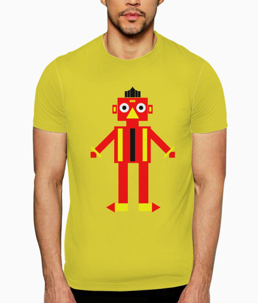 Game robot t shirt front