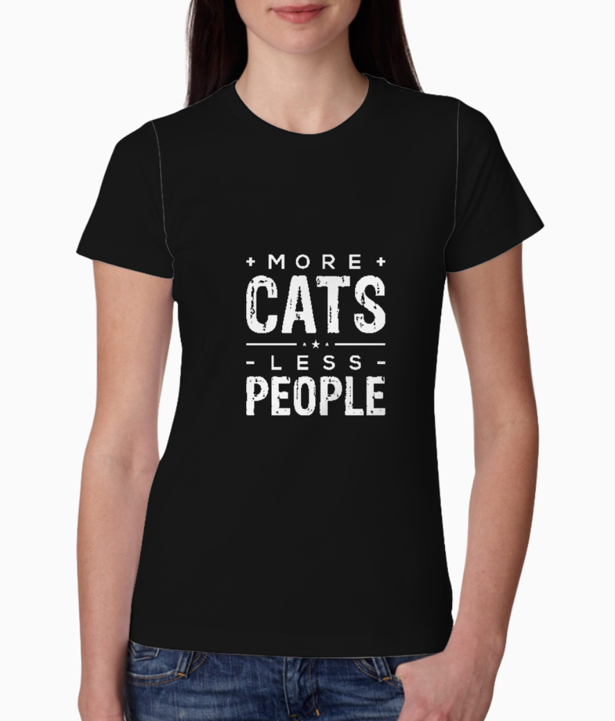 Cats people typography tee front