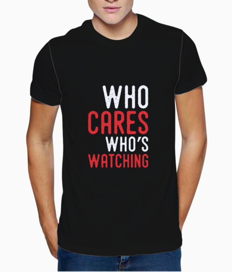 Who cares typography t shirt front