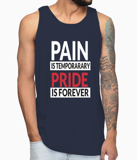 Pain and pride vest front