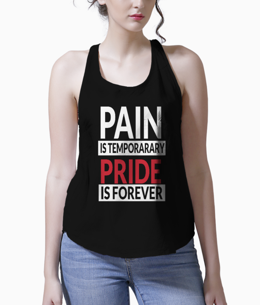 Pain and pride tank front