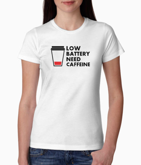 Low battery tee front