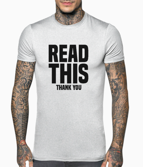 Read this thank you t shirt front