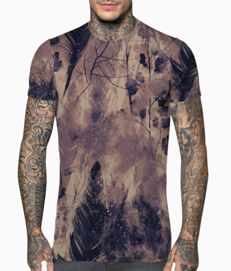 Burning feathers t shirt front