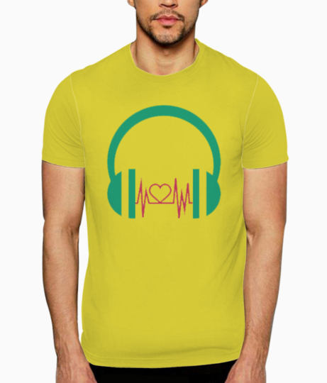 Headphones love t shirt front