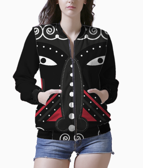 Ritual tribal bomber front