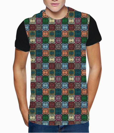 Polychrome owl t shirt front