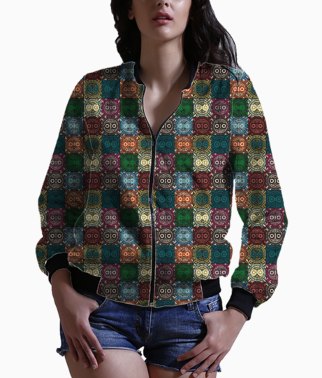 Polychrome owl bomber front