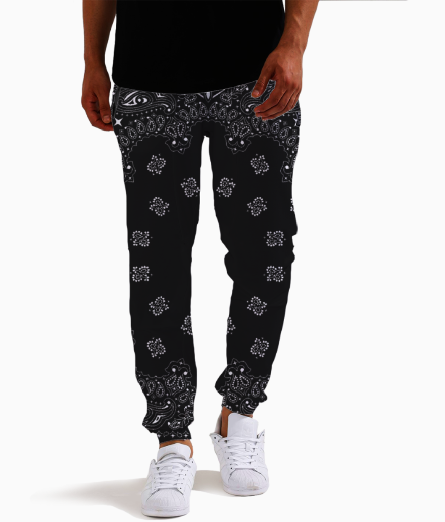 Paisley cult joggers front