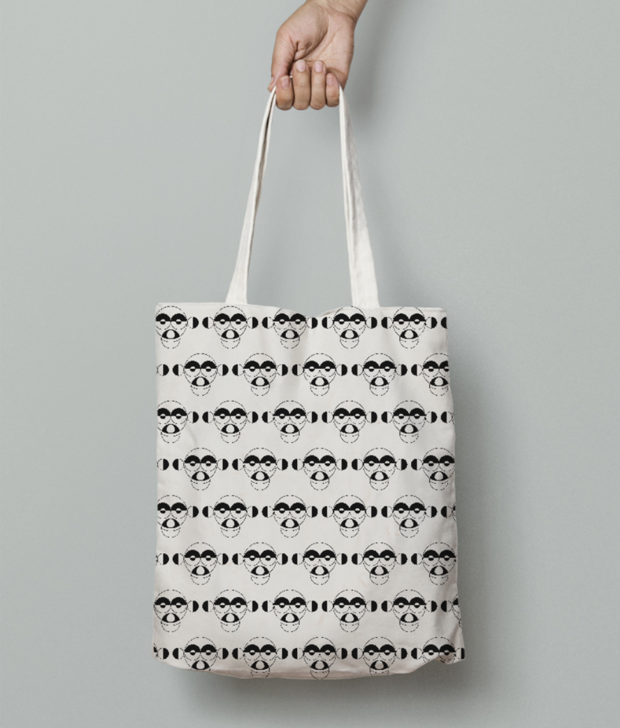 Monkey tote bag front