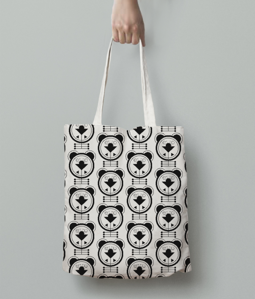 Puppy dog tote bag back