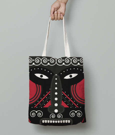 Ritual tribal tote bag front