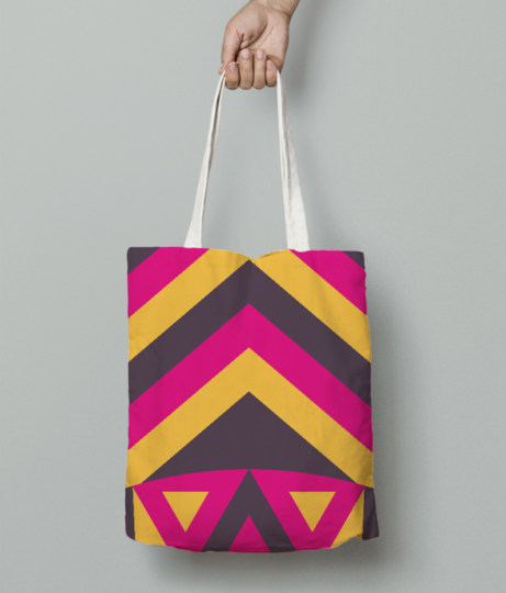 Aboriginal tribal mask tote bag front
