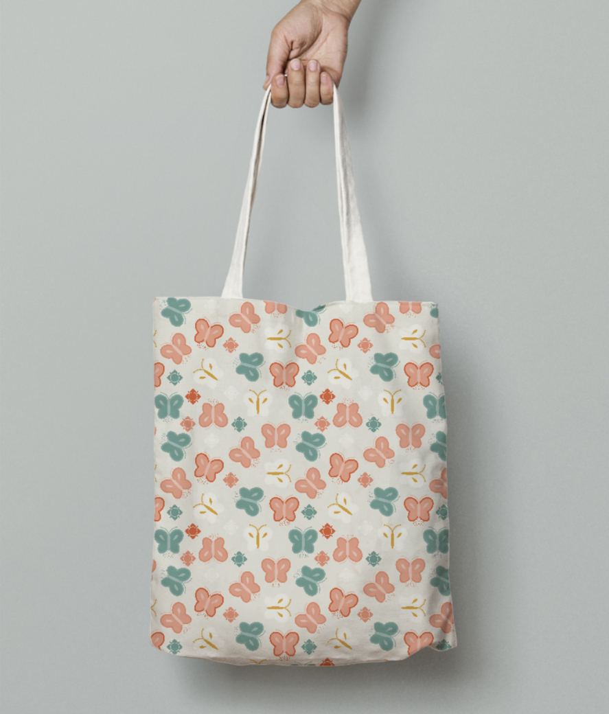 Butterflies tote bag front