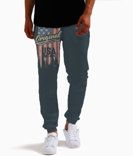 Usa joggers front