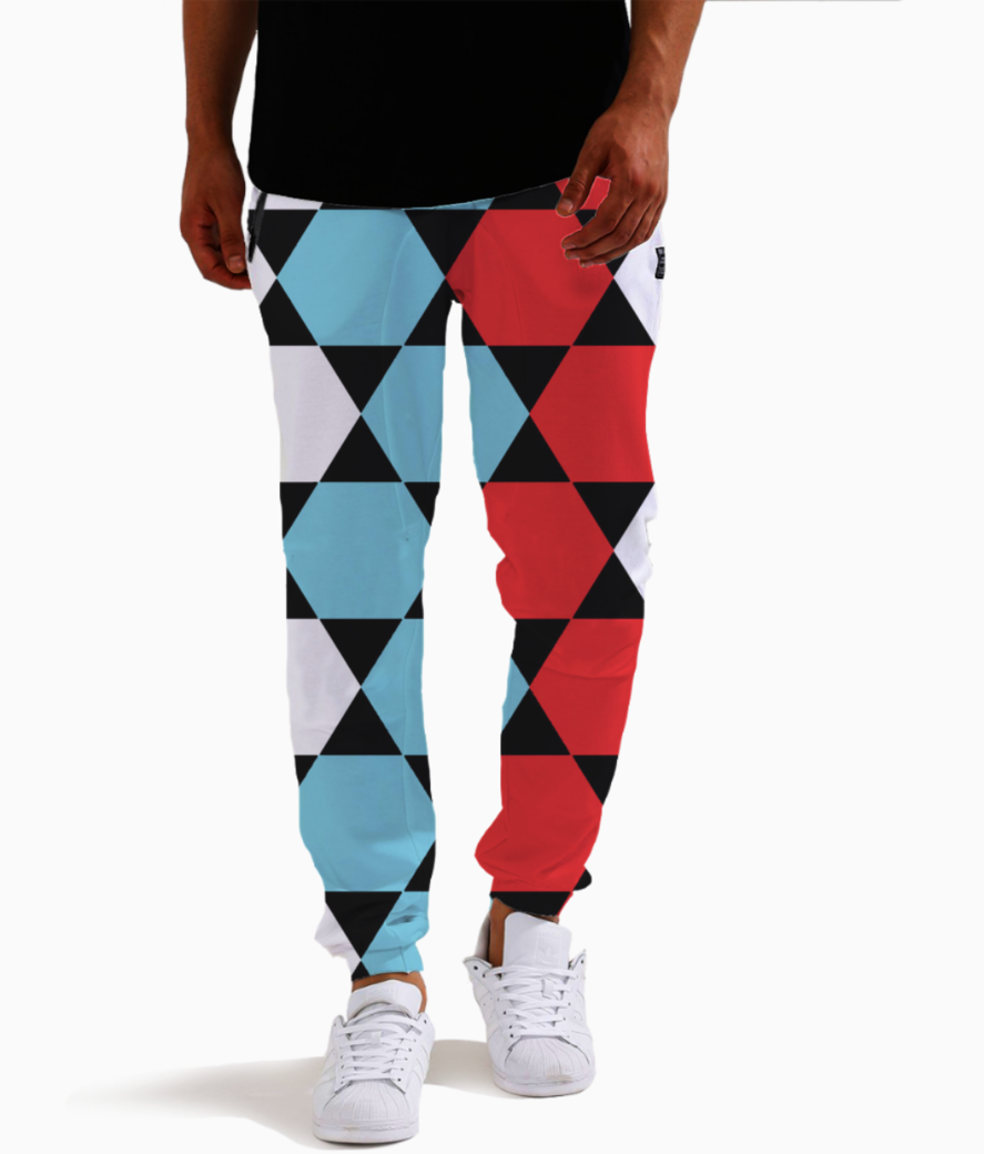 Redblue joggers front