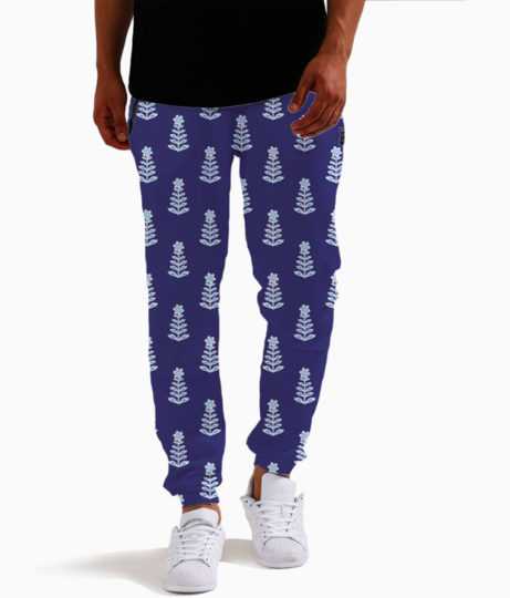 Blue joggers front