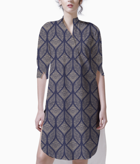 Abstract geometry 2 kurti front