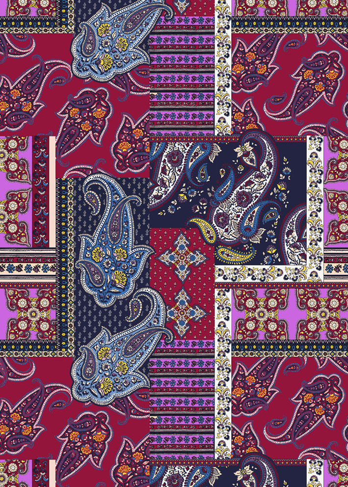 Paisley print repeat fashion print designer surface designer 709