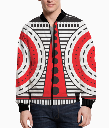 Red illuminati tribal bomber front