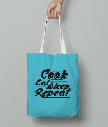 Cook eat tote bag front